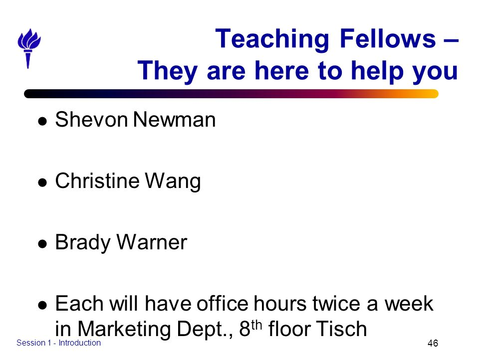 Teaching Fellows – They are here to help you