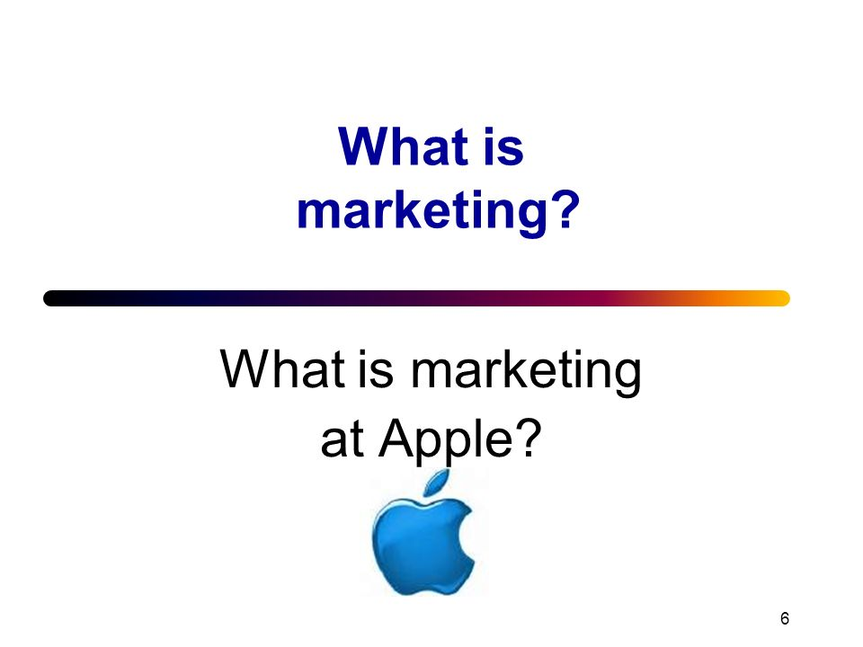 What is marketing at Apple