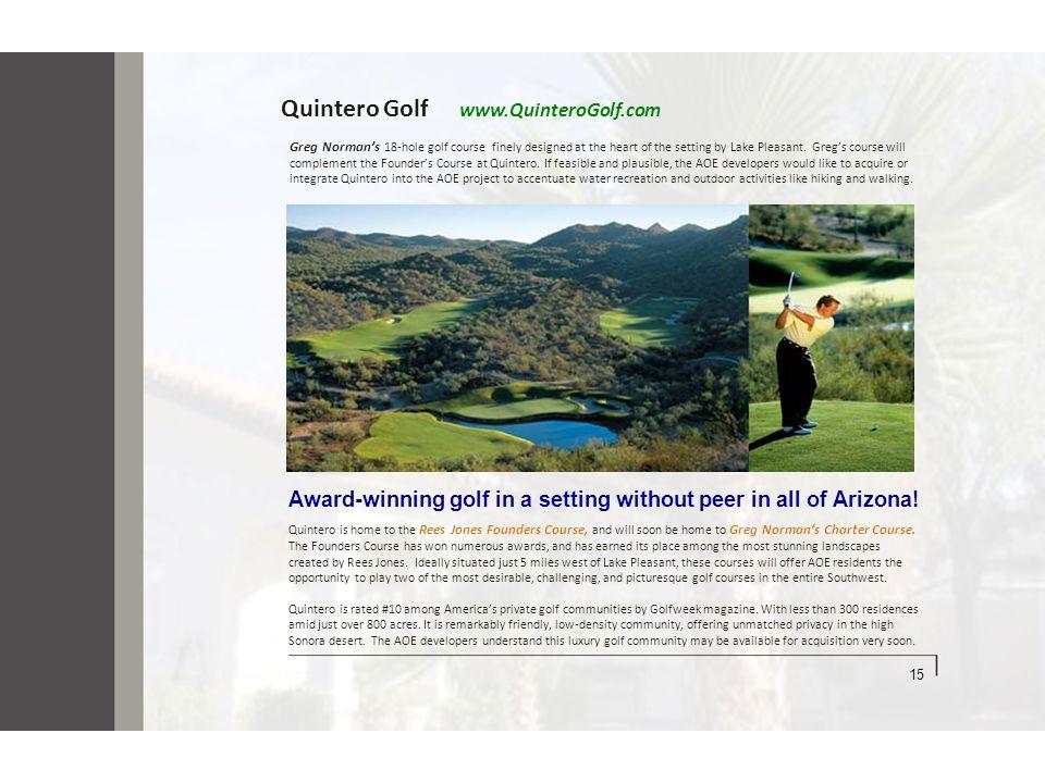 Quintero Golf www.QuinteroGolf.com