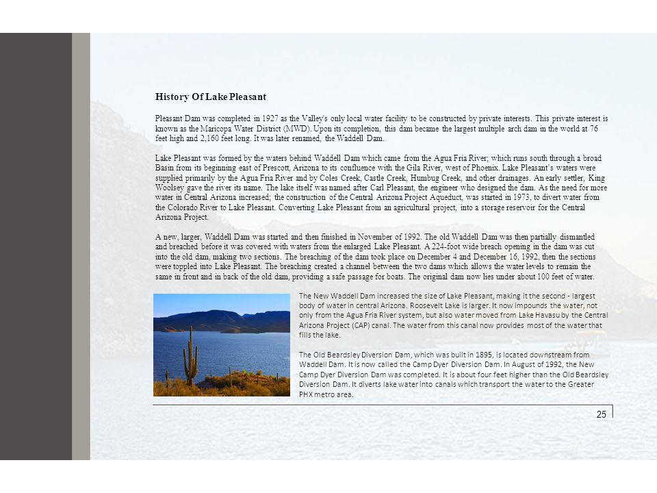 25 History Of Lake Pleasant 25