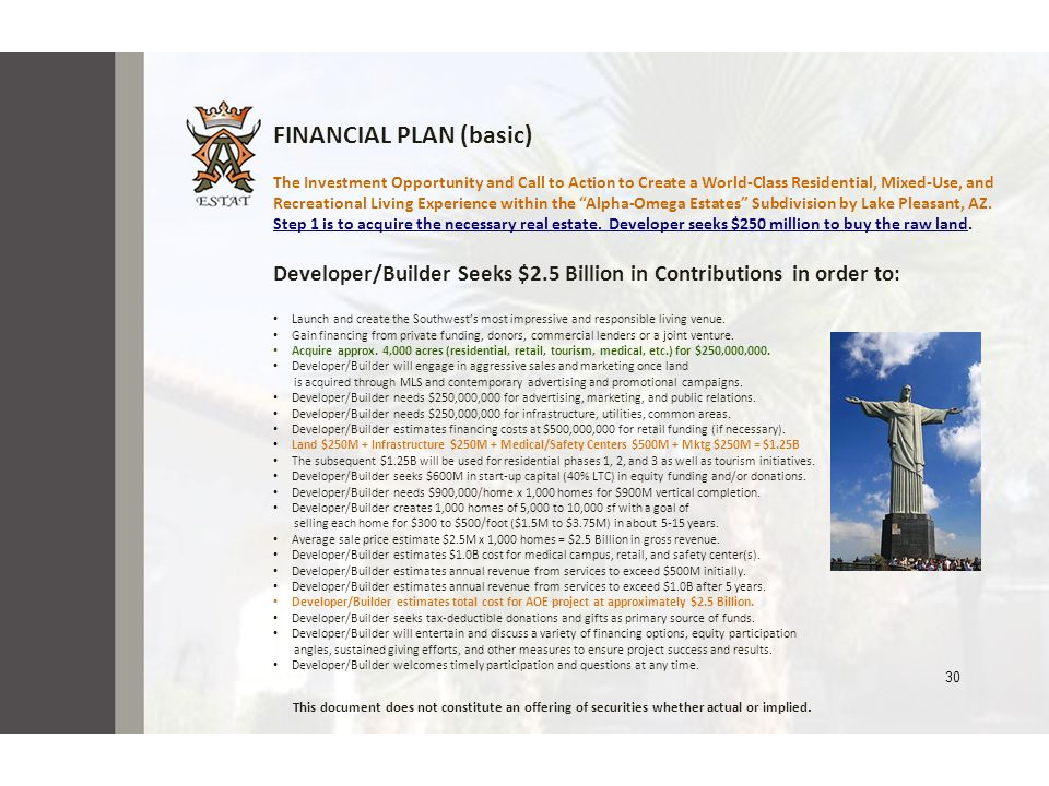 FINANCIAL PLAN (basic)