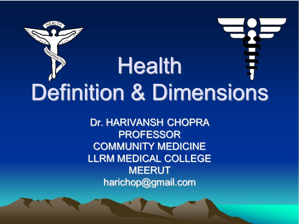 Health Definition & Dimensions
