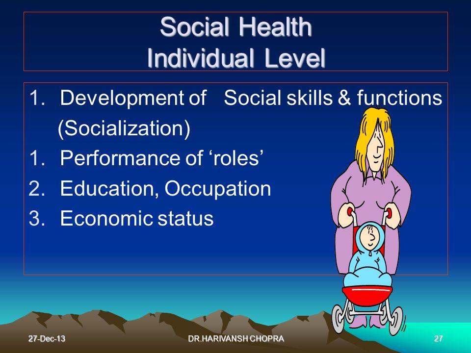 Social Health Individual Level