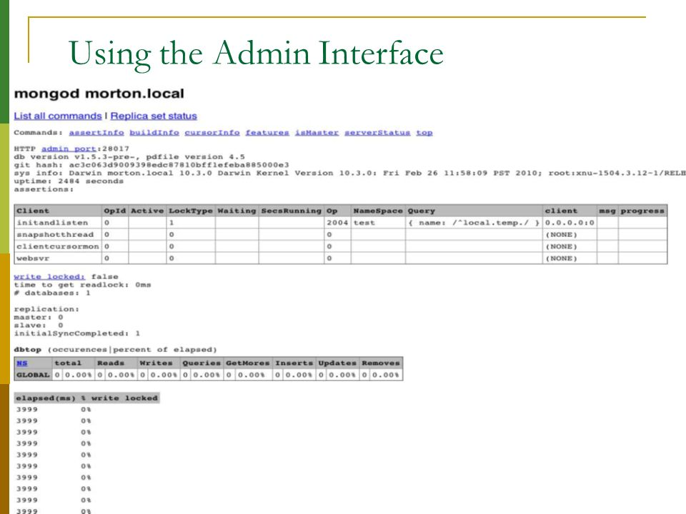Using the Admin Interface