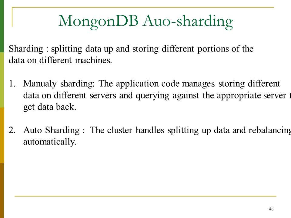 MongonDB Auo-sharding