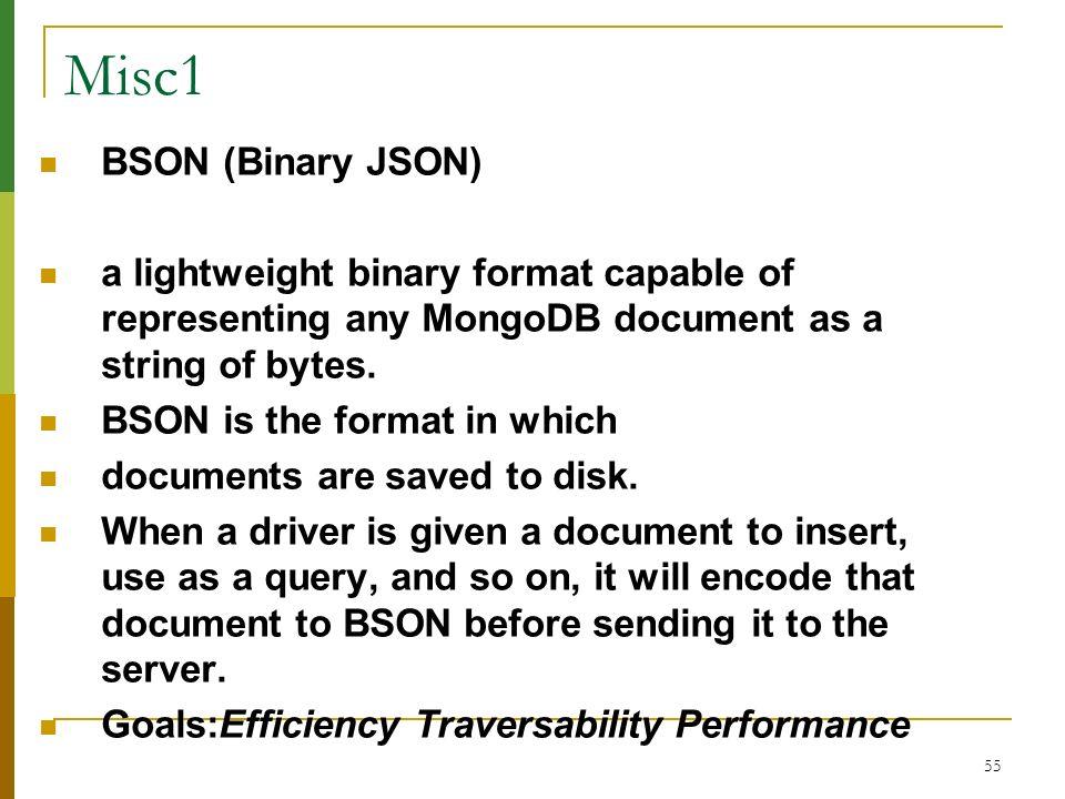 Misc1 BSON (Binary JSON)