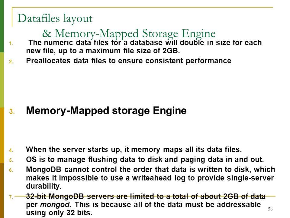 Datafiles layout & Memory-Mapped Storage Engine
