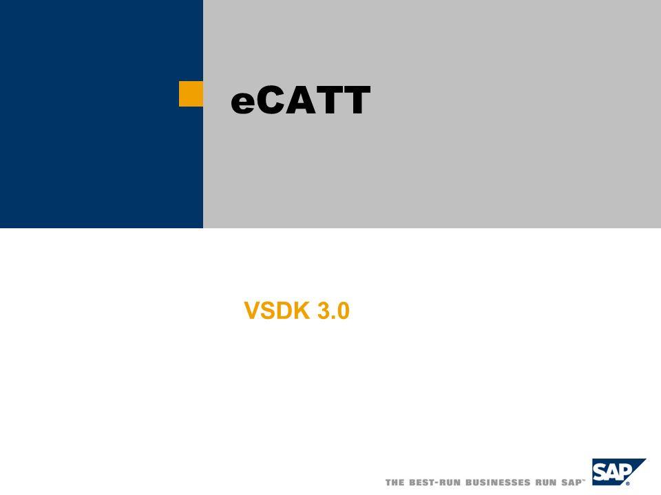 eCATT VSDK 3.0 Version 2003/2 19/3/2003