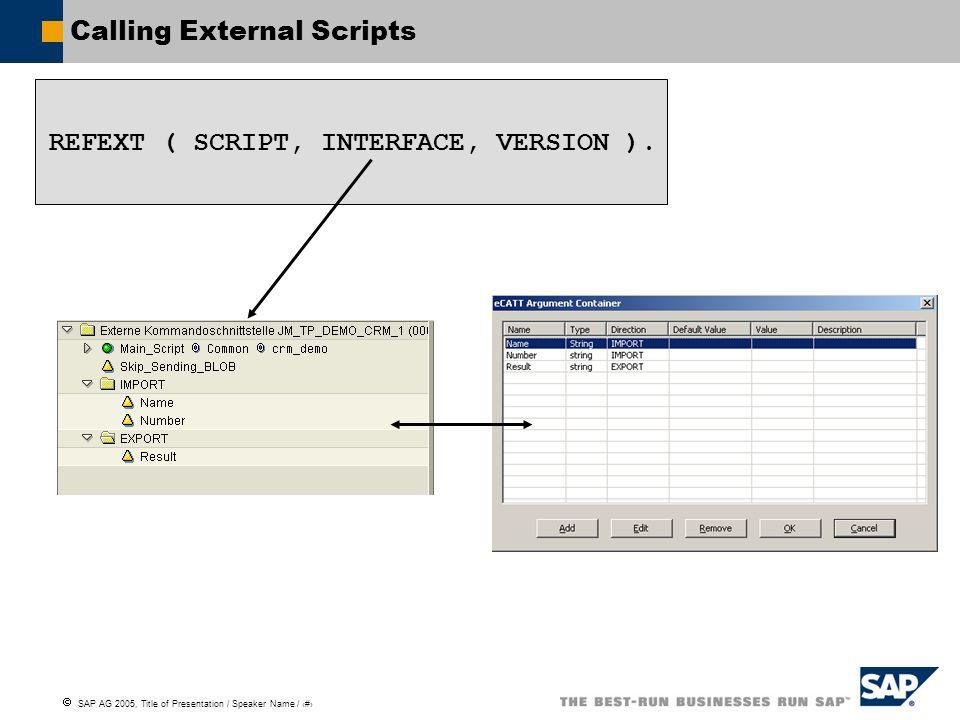 Calling External Scripts