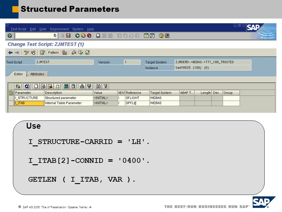 Structured Parameters