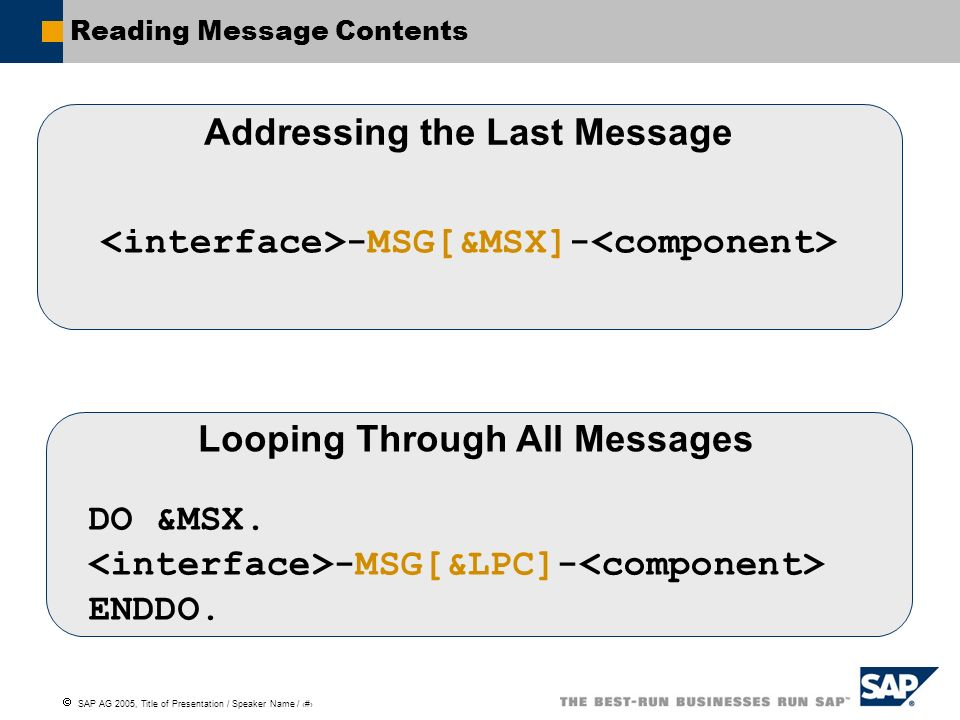 Reading Message Contents
