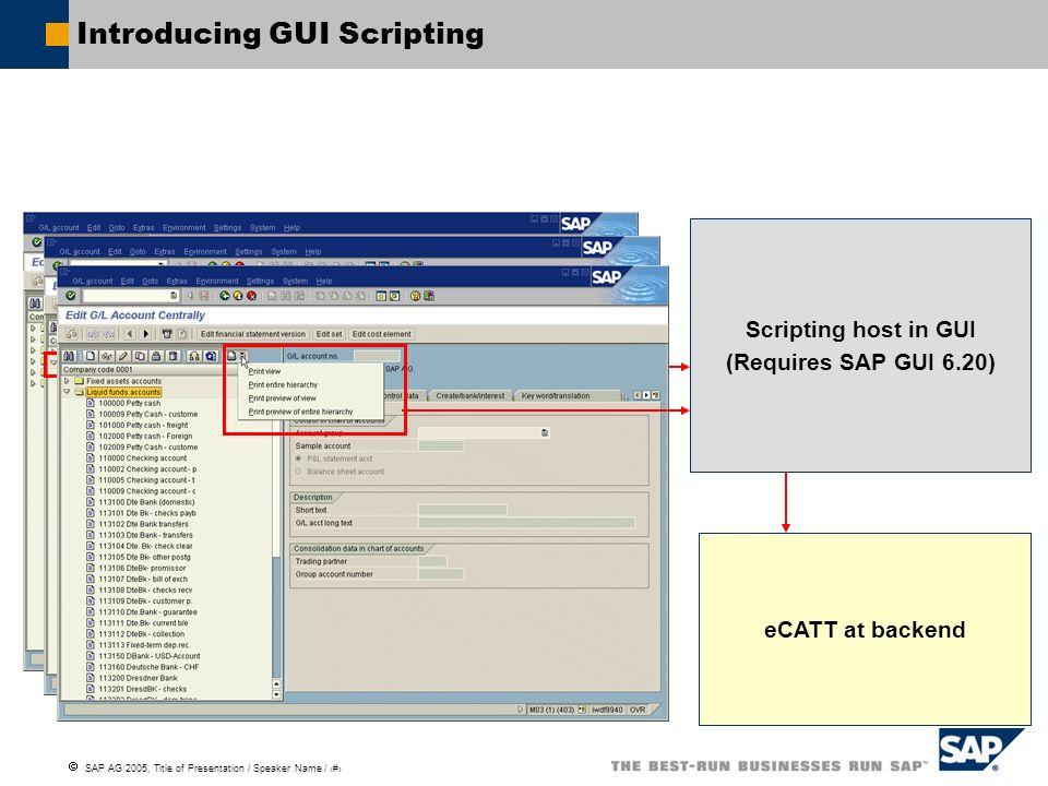 Introducing GUI Scripting