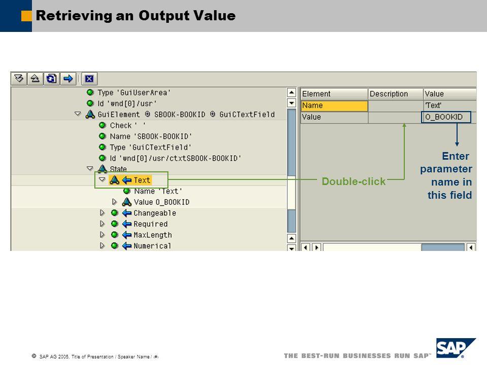 Retrieving an Output Value