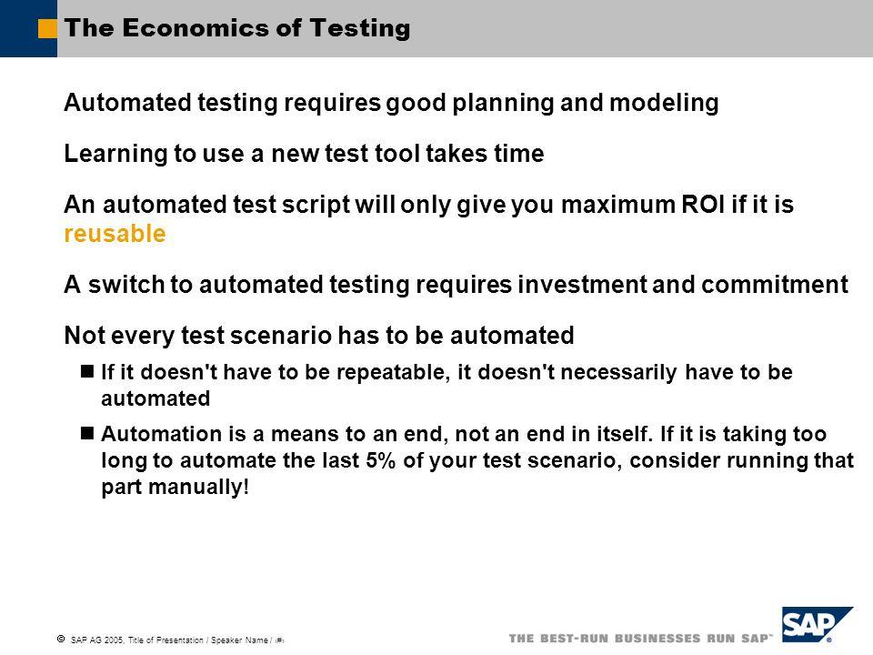 The Economics of Testing