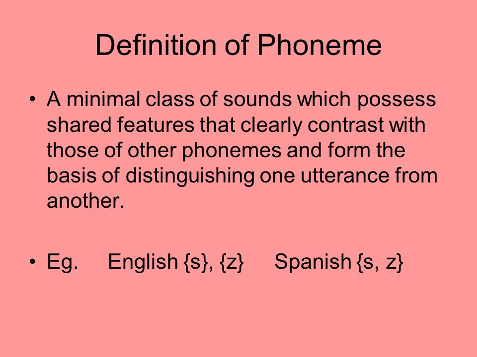 Definition of Phoneme