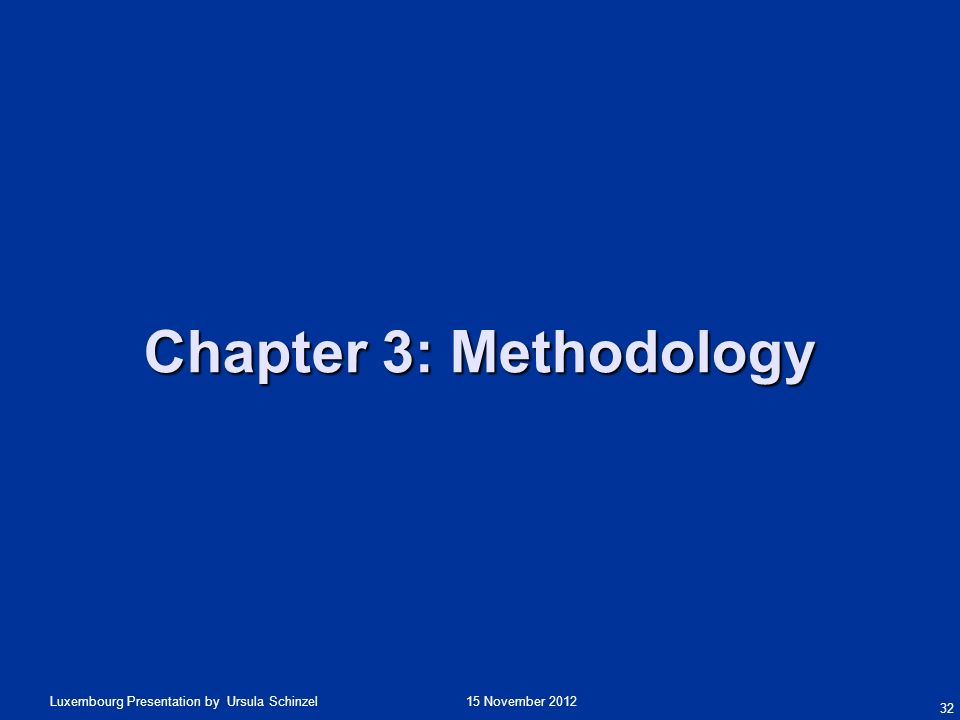 Chapter 3: Methodology