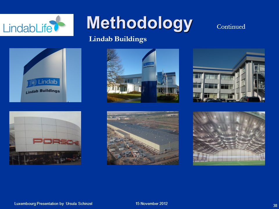 Methodology Continued Lindab Buildings