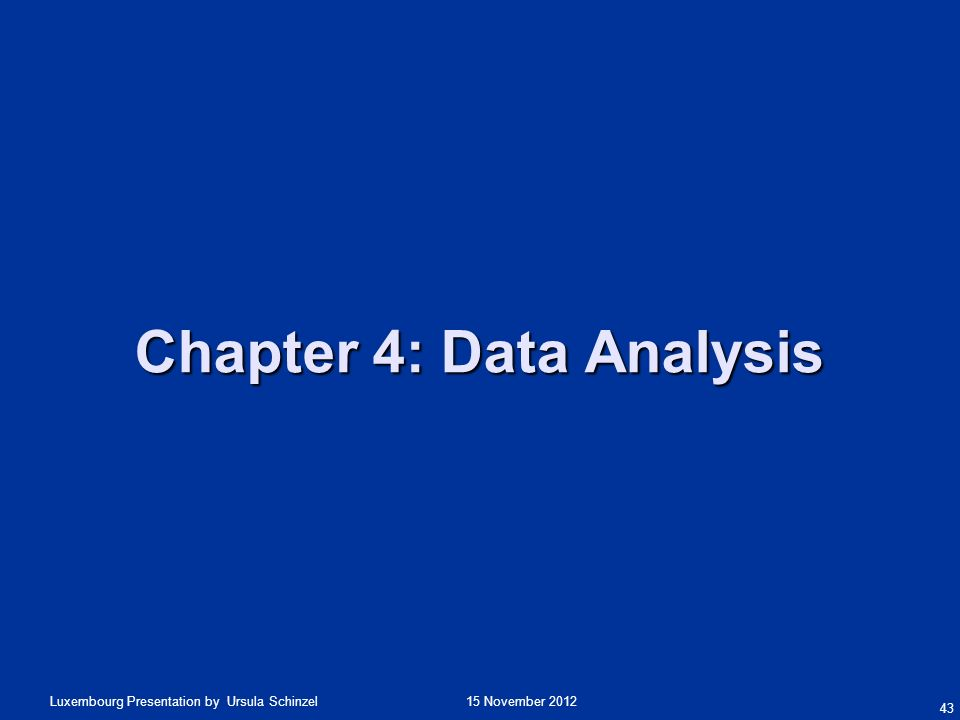 Chapter 4: Data Analysis