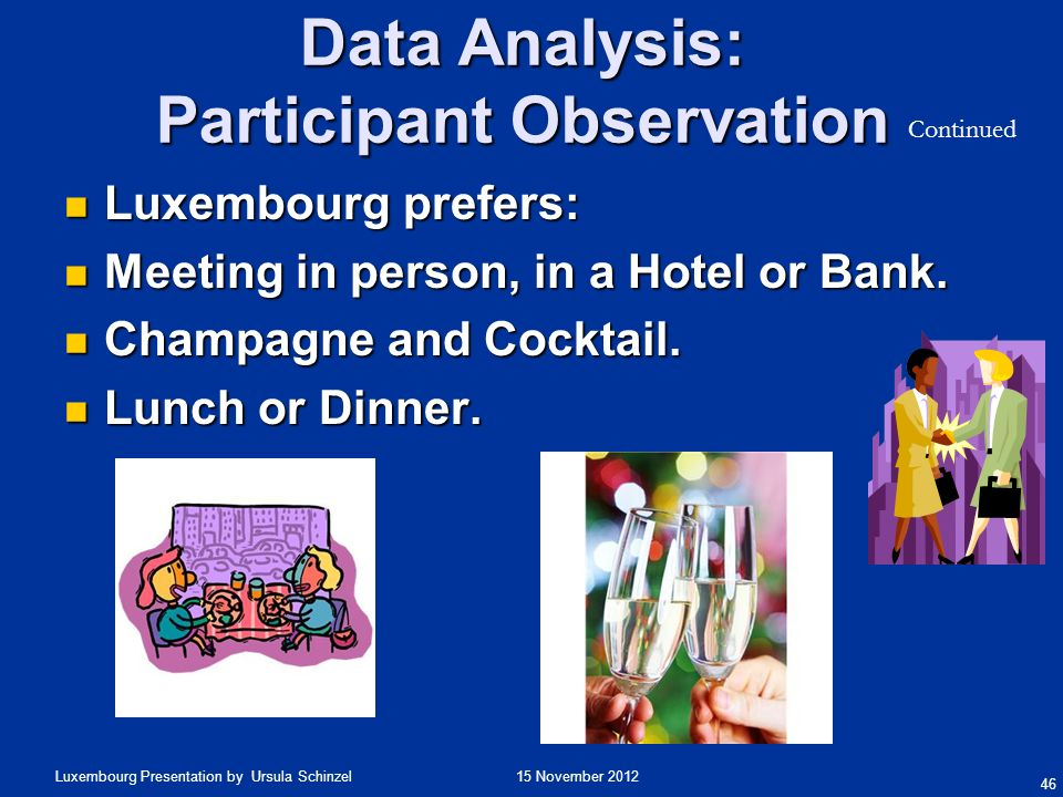 Data Analysis: Participant Observation