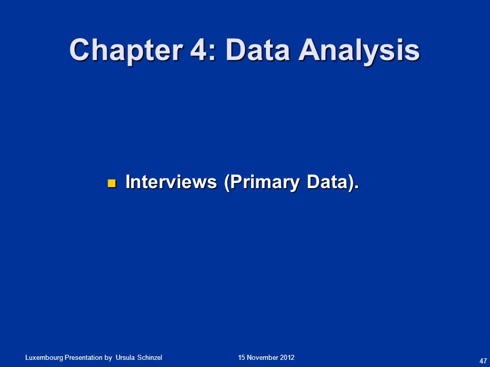 Data presentation analysis thesis