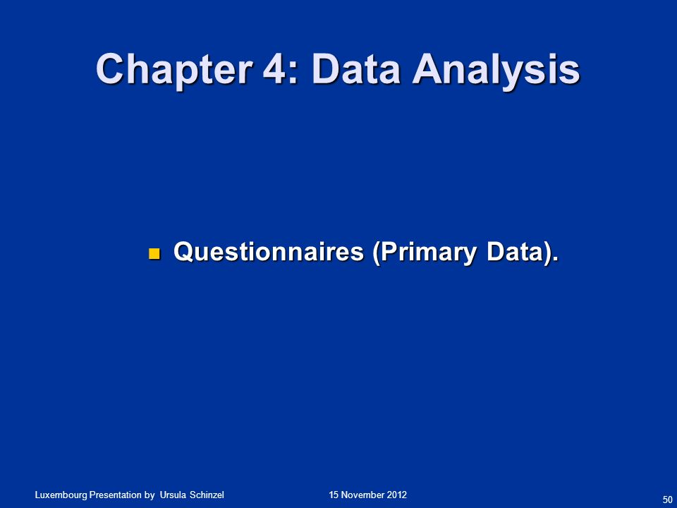 Chapter 4: Data Analysis