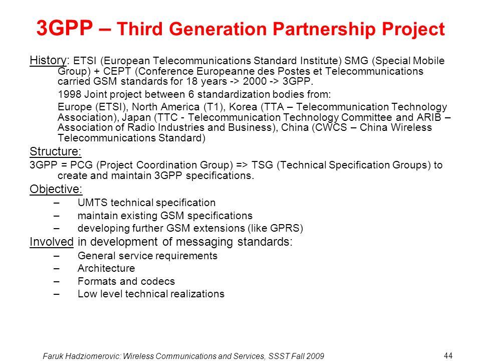 3GPP – Third Generation Partnership Project