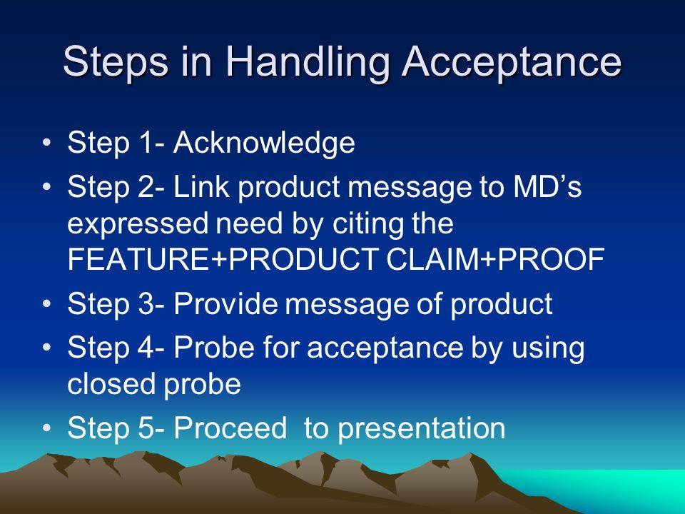 Steps in Handling Acceptance