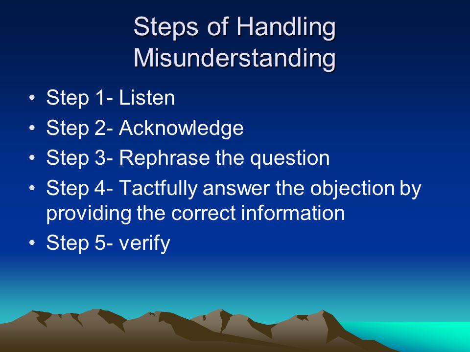 Steps of Handling Misunderstanding