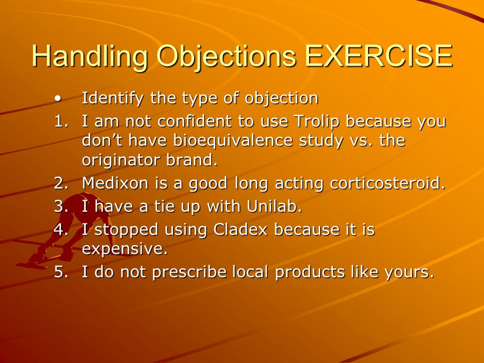 Handling Objections EXERCISE