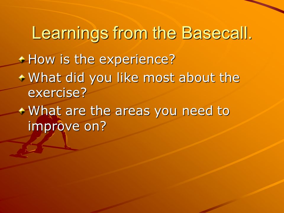 Learnings from the Basecall.