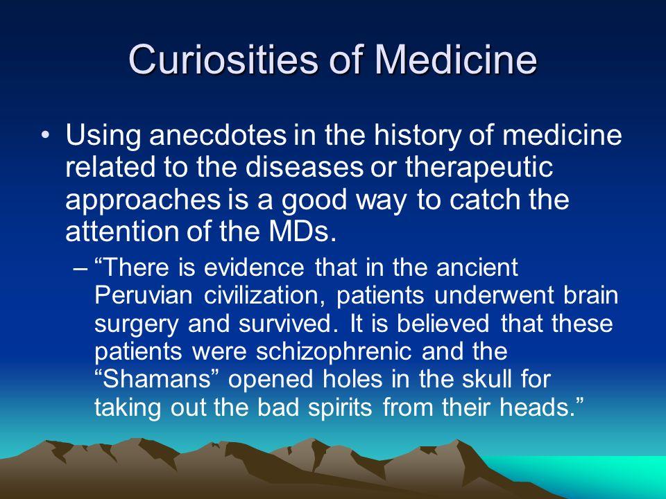 Curiosities of Medicine