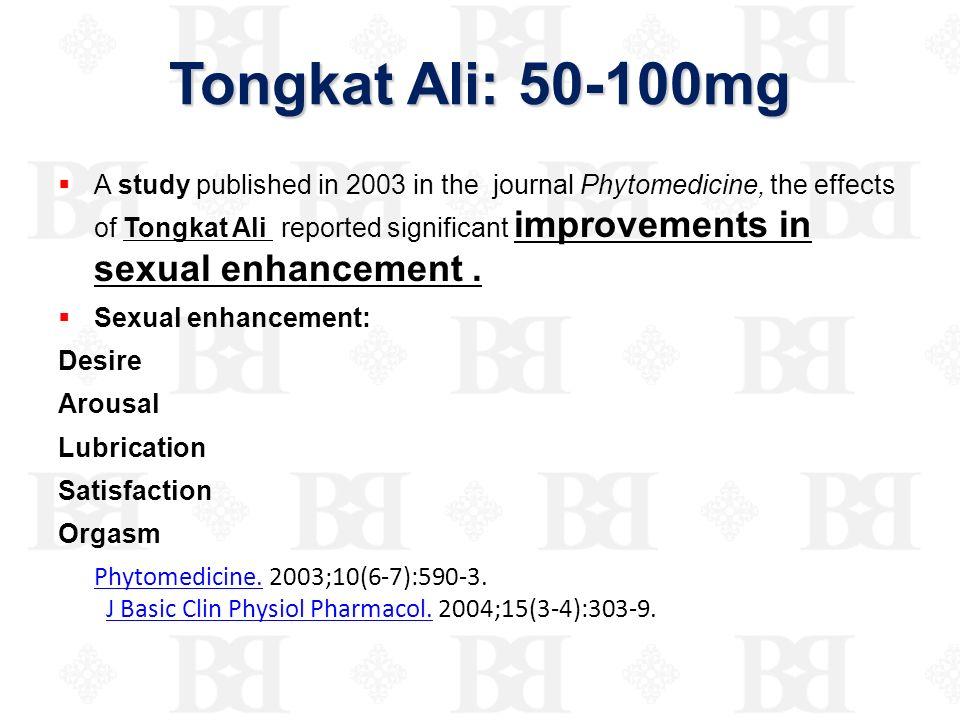 Tongkat Ali: 50-100mg