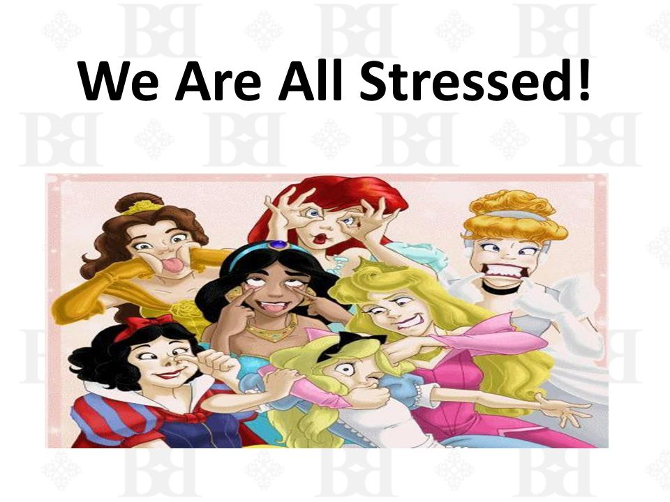 We Are All Stressed!