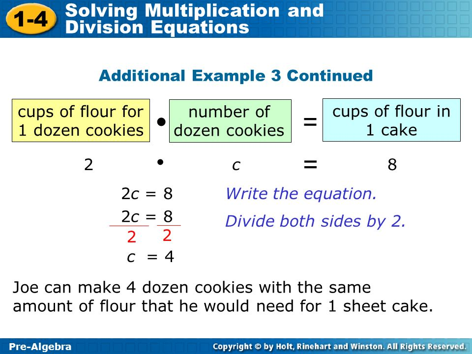 = =  • Additional Example 3 Continued