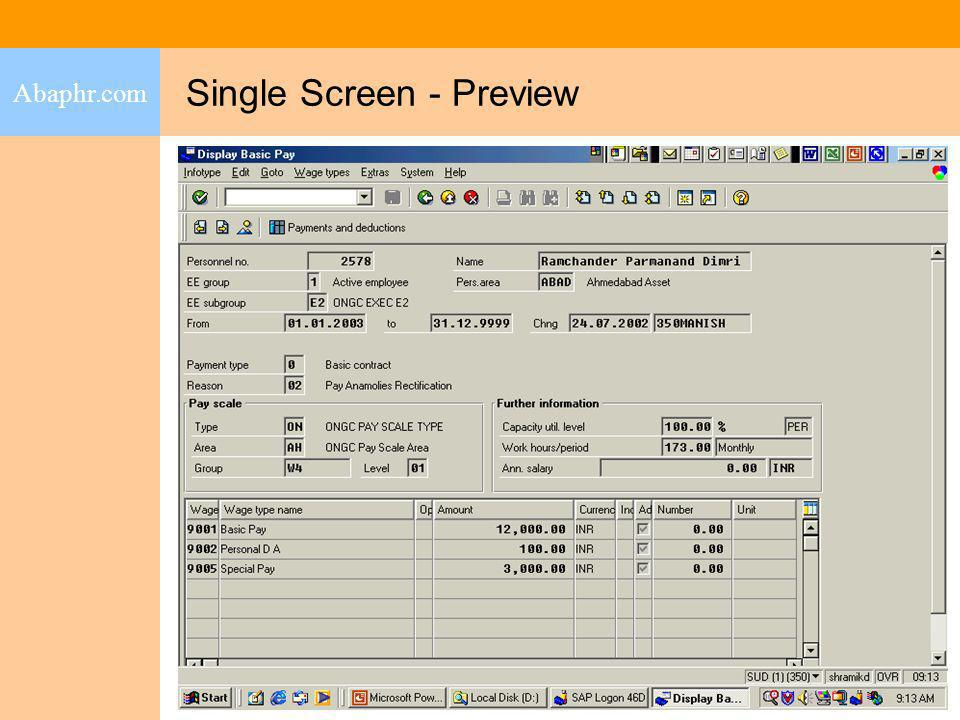 Single Screen - Preview