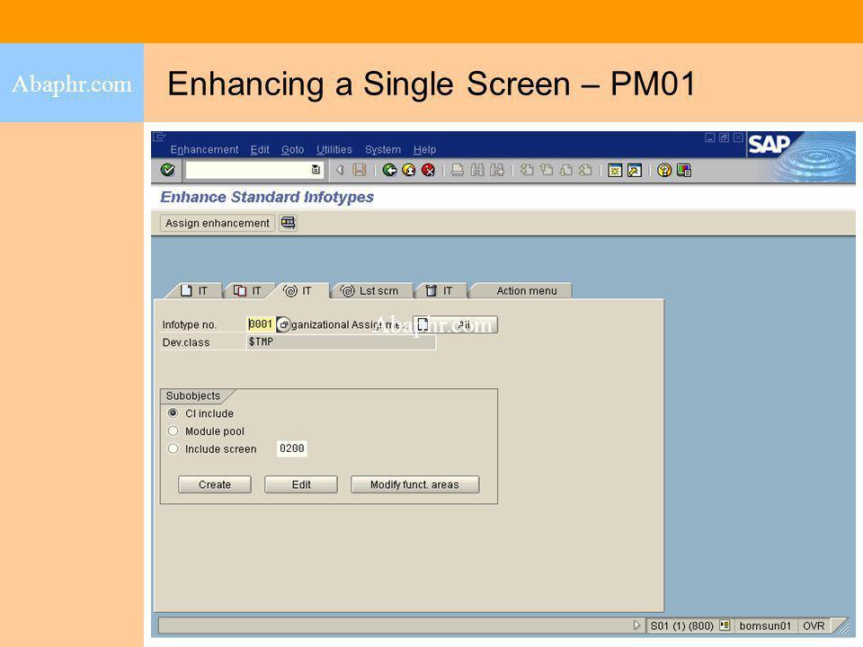 Enhancing a Single Screen – PM01