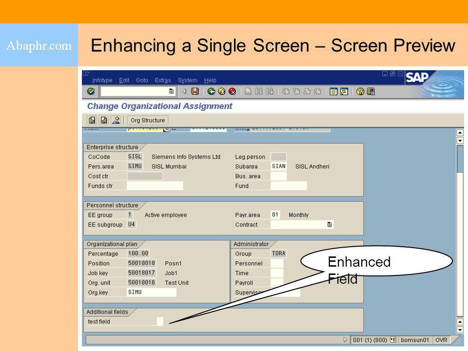 Enhancing a Single Screen – Screen Preview