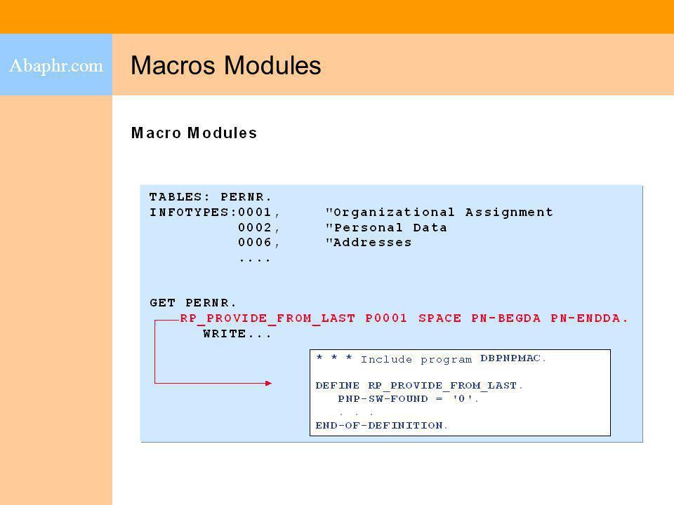 Abaphr.com Macros Modules