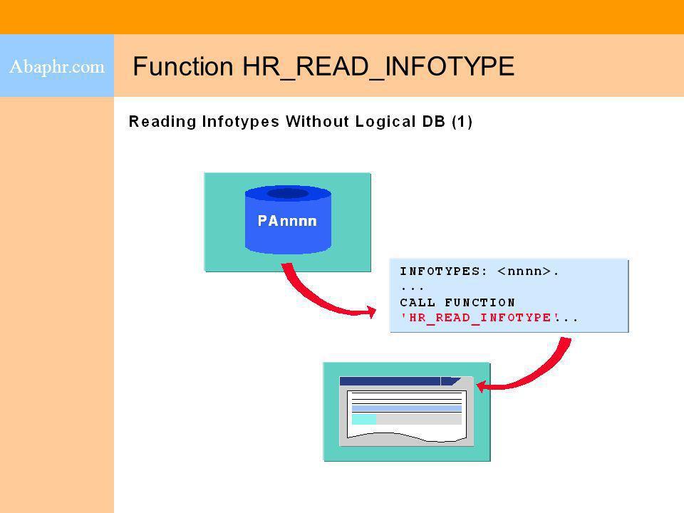 Function HR_READ_INFOTYPE