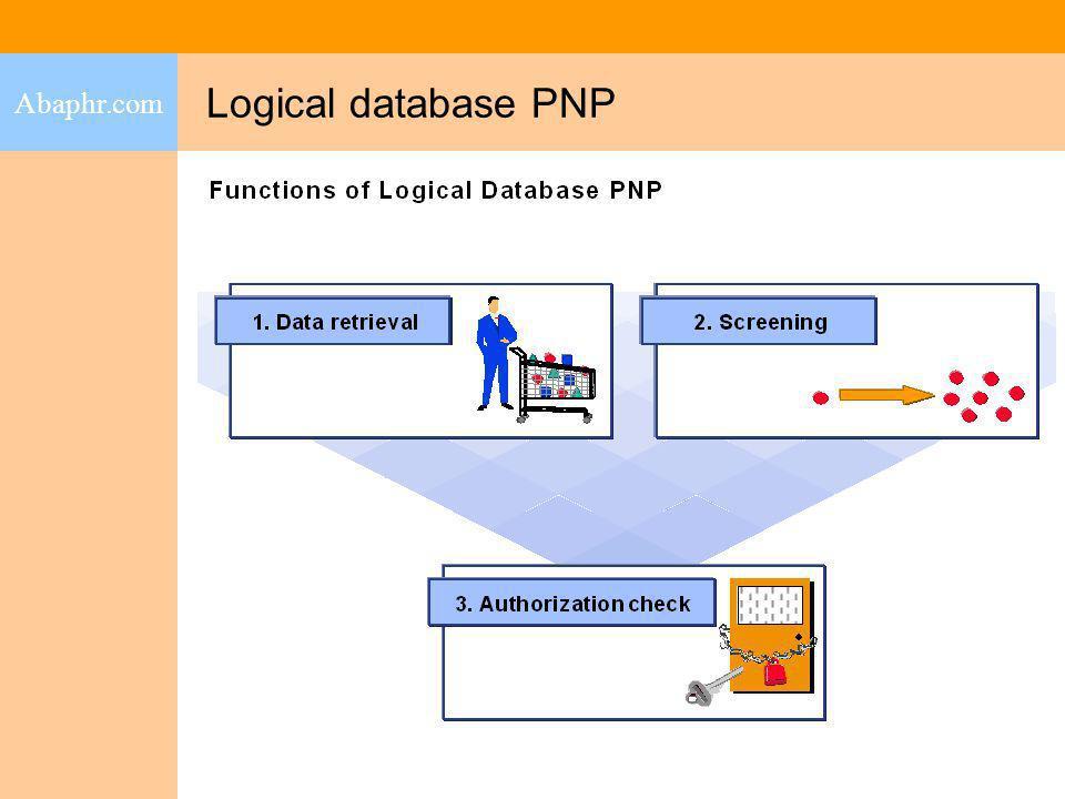 Abaphr.com Logical database PNP