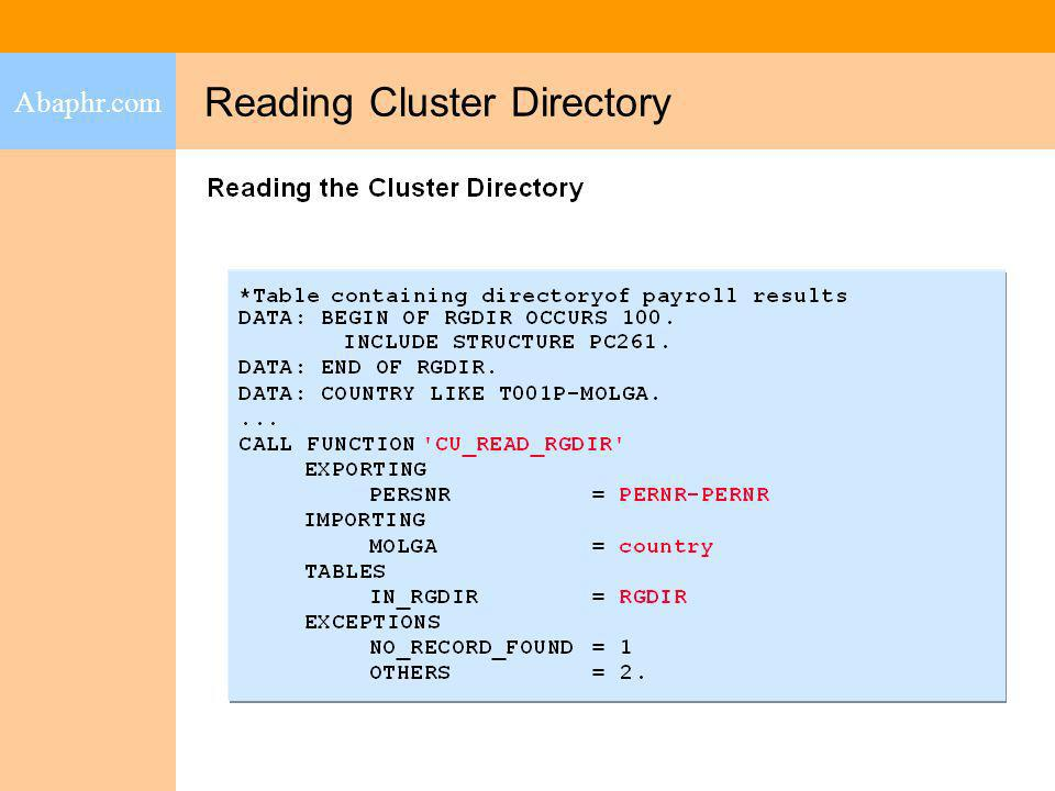 reading cluster 1