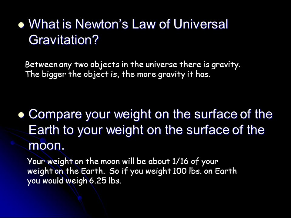 What is Newton's Law of Universal Gravitation