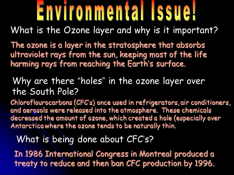 Environmental Issue! What is the Ozone layer and why is it important