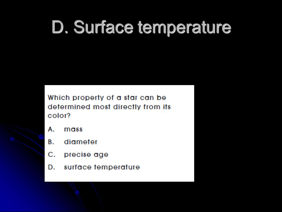 D. Surface temperature