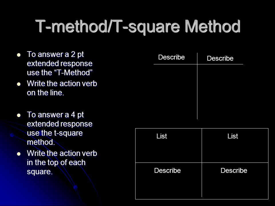T-method/T-square Method