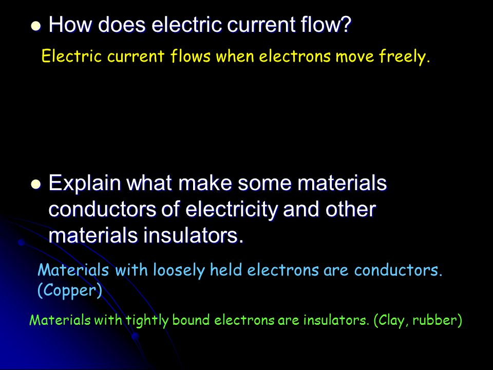 How does electric current flow