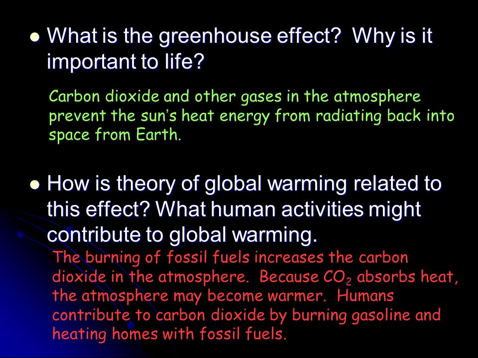 What is the greenhouse effect Why is it important to life