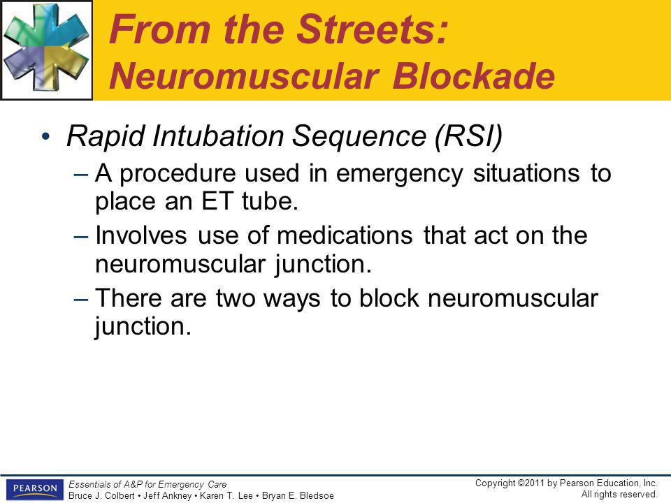From the Streets: Neuromuscular Blockade