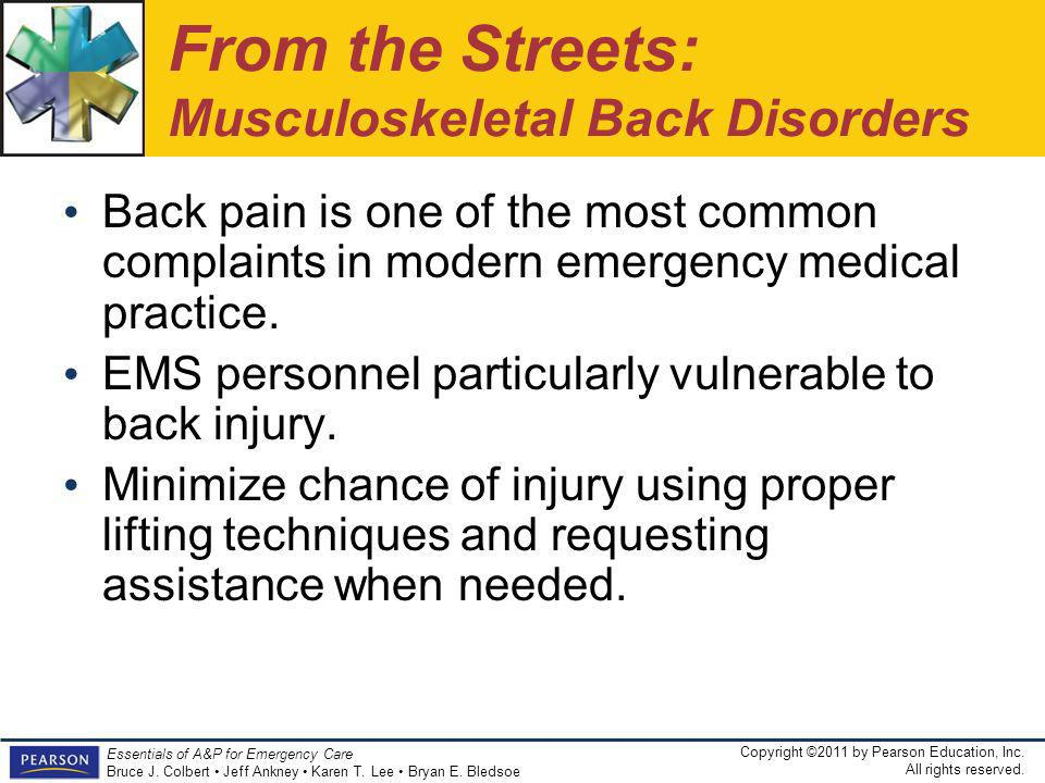 From the Streets: Musculoskeletal Back Disorders