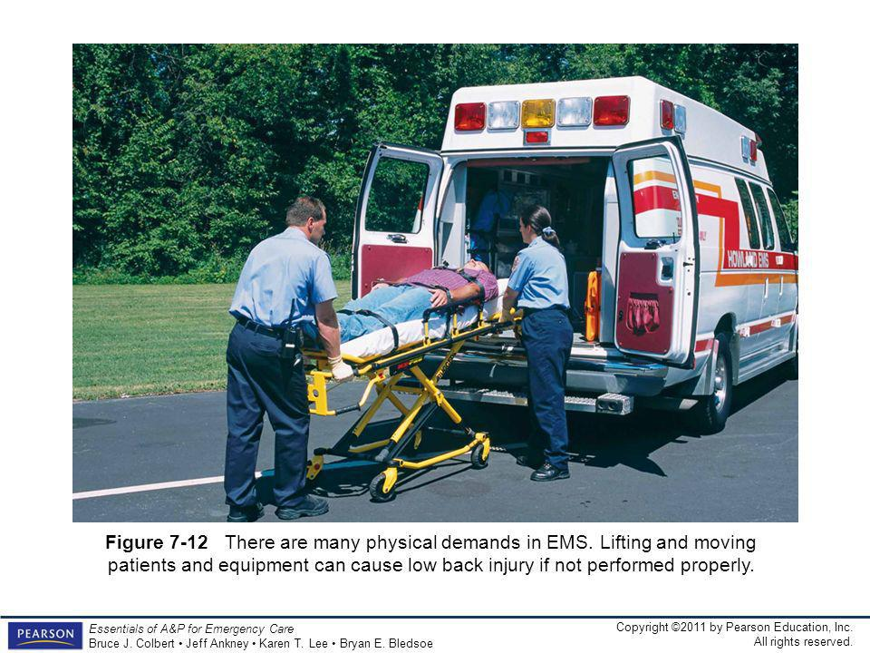Figure 7-12 There are many physical demands in EMS
